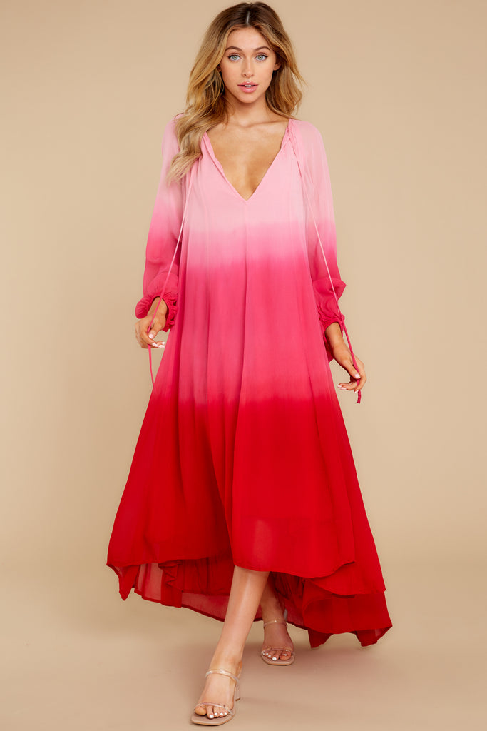 1 Leap Of Faith Red Maxi Dress at reddress.com