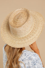 2 Palma Natural Boater Hat at reddress.com