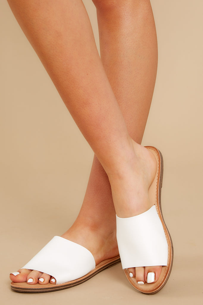 1 Chase The Thrill White Sandals at reddress.com