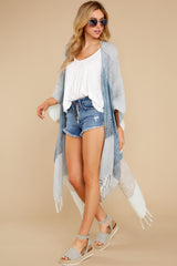 2 Moments So Chic Blue Multi Stripe Kimono at reddress.com