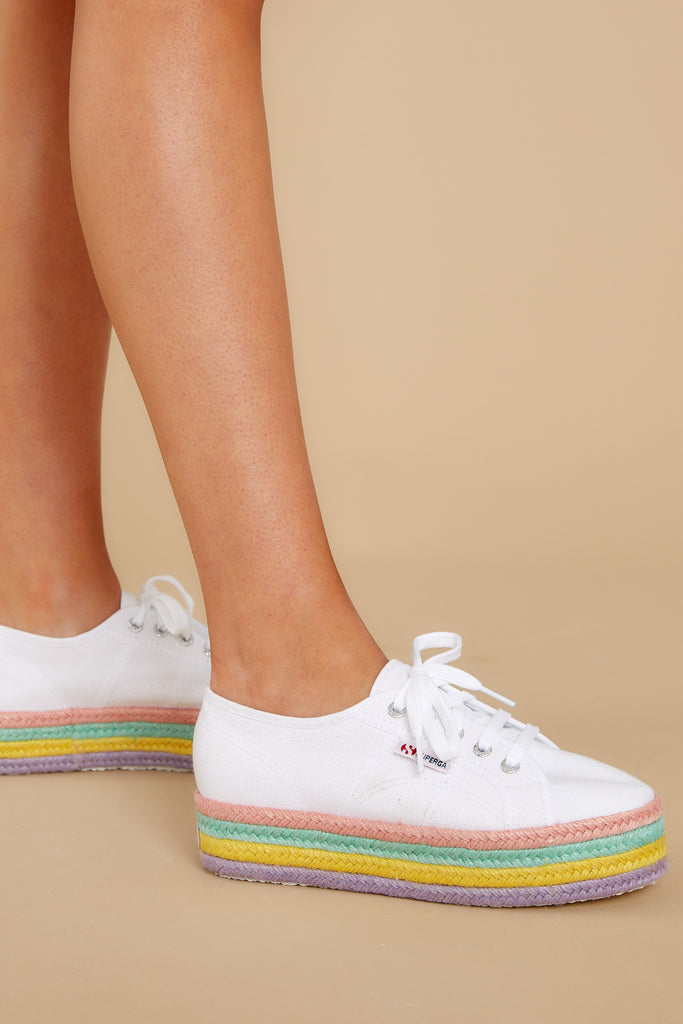1 2750 Cotu White And Silver Classic Sneakers (BACKORDER NOVEMBER) at reddress.com