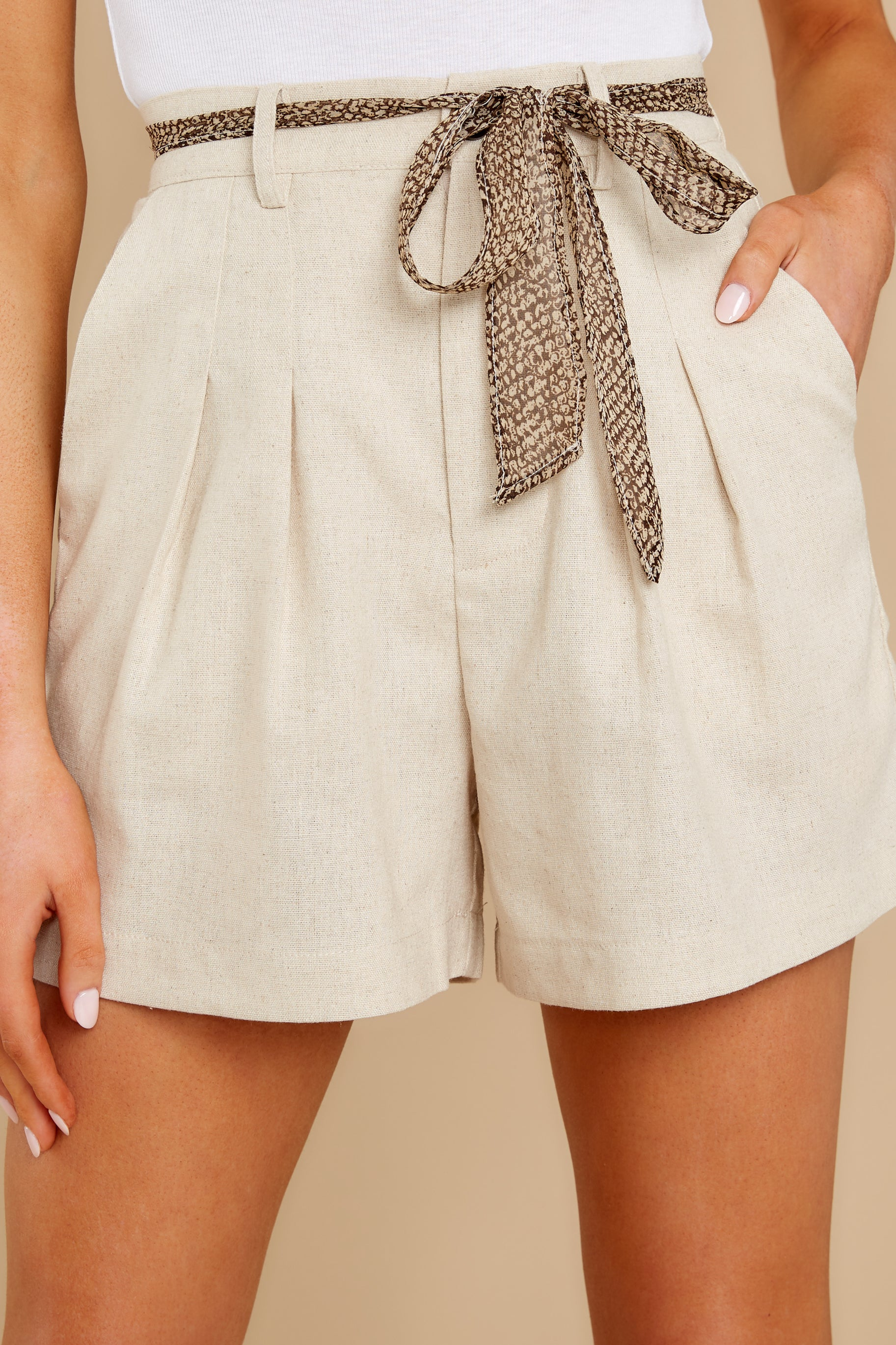 Vintage High Waisted Shorts, Sailor Shorts, Retro Shorts Other Side Beige Trouser Shorts $79.00 AT vintagedancer.com