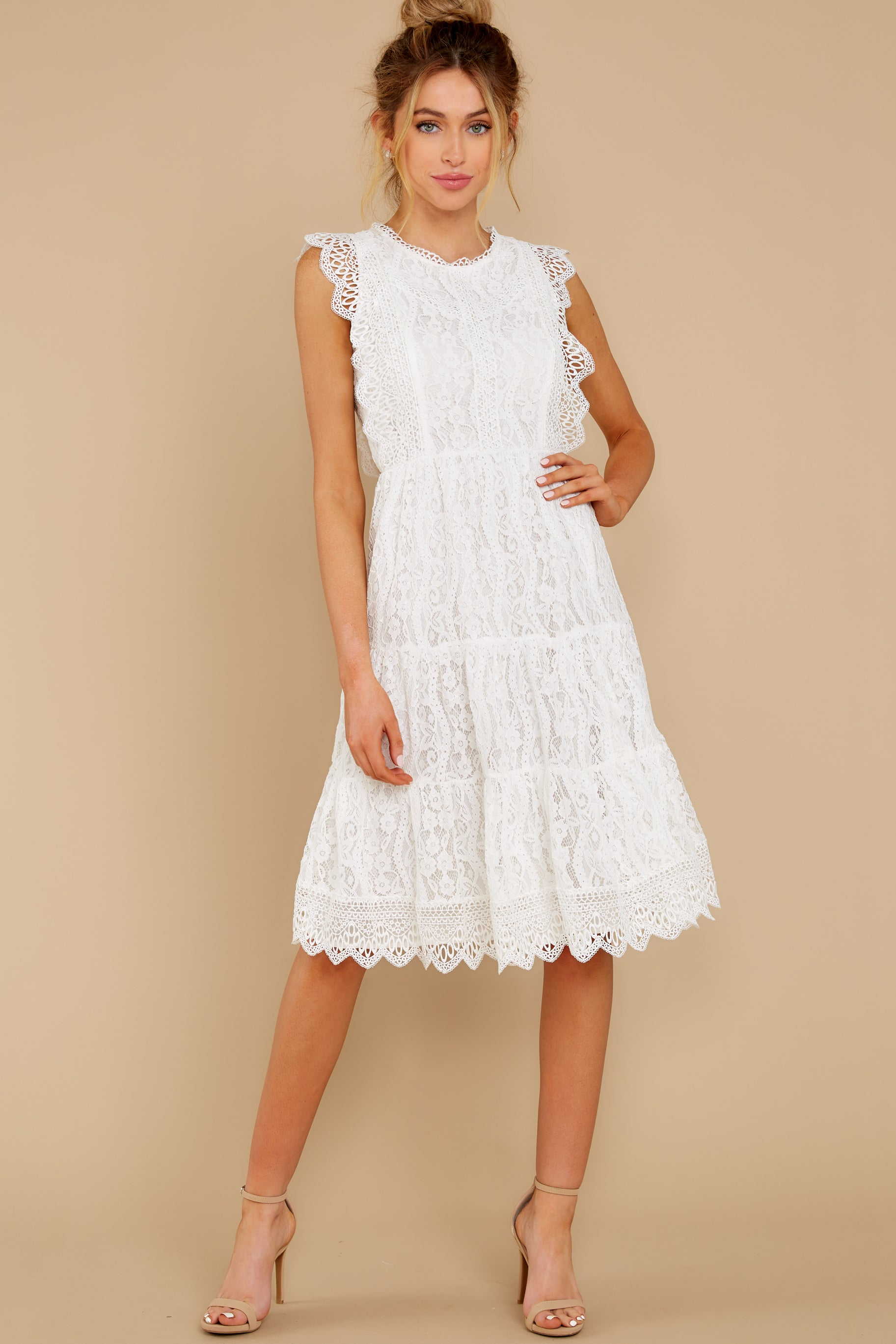 4 Simply Amazing White Lace Dress at reddress.com