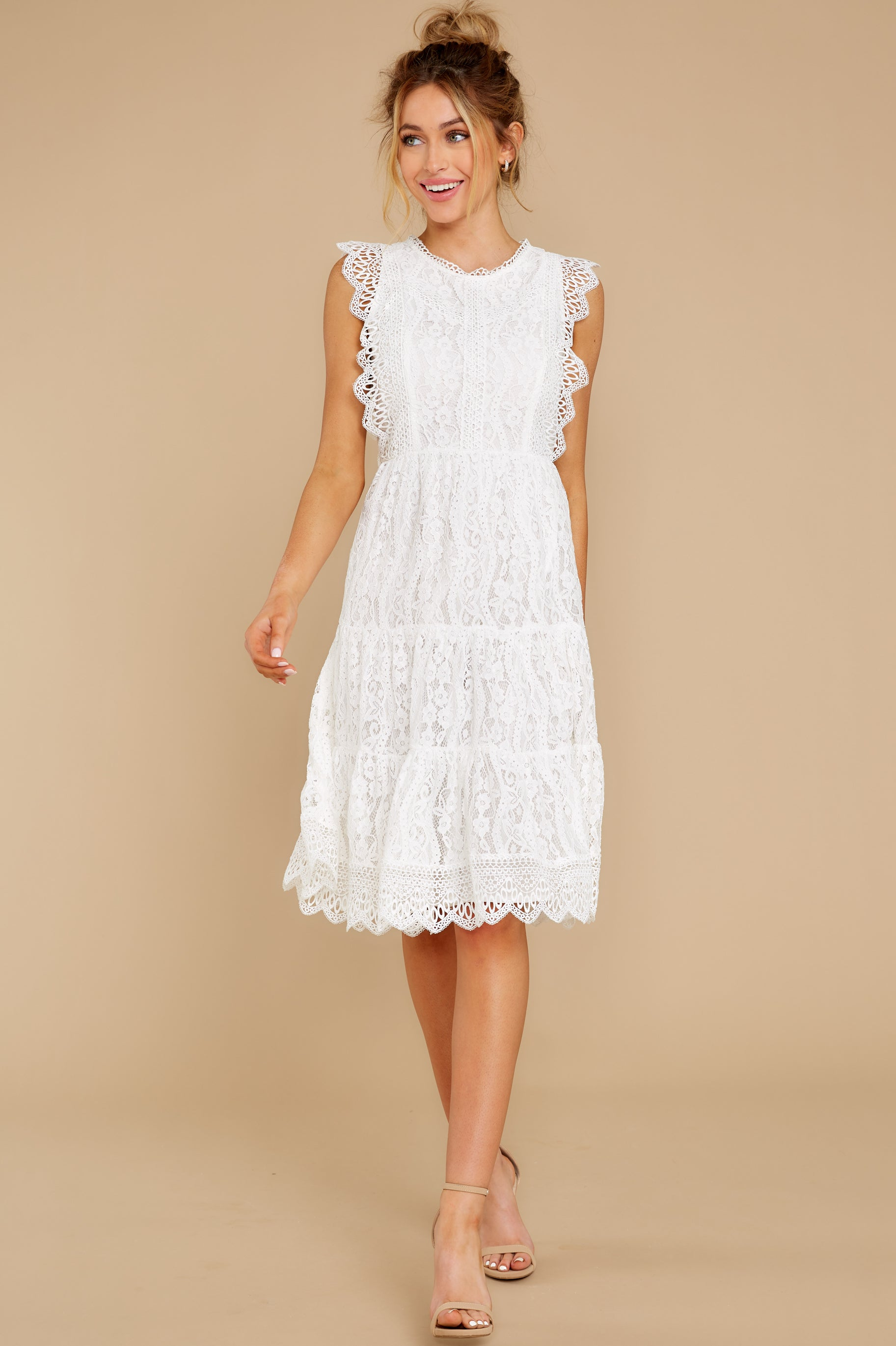 3 Simply Amazing White Lace Dress at reddress.com