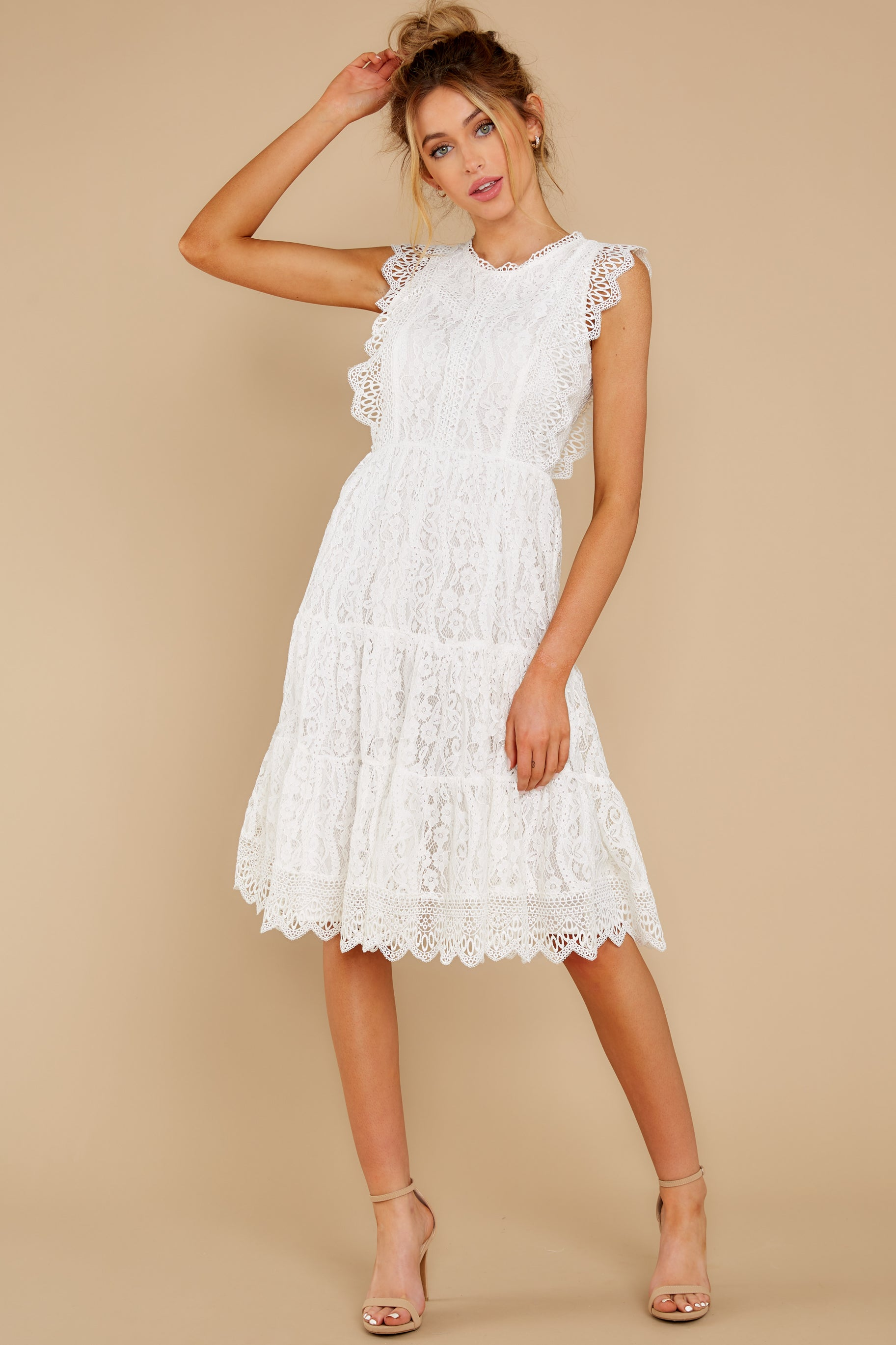2 Simply Amazing White Lace Dress at reddress.com