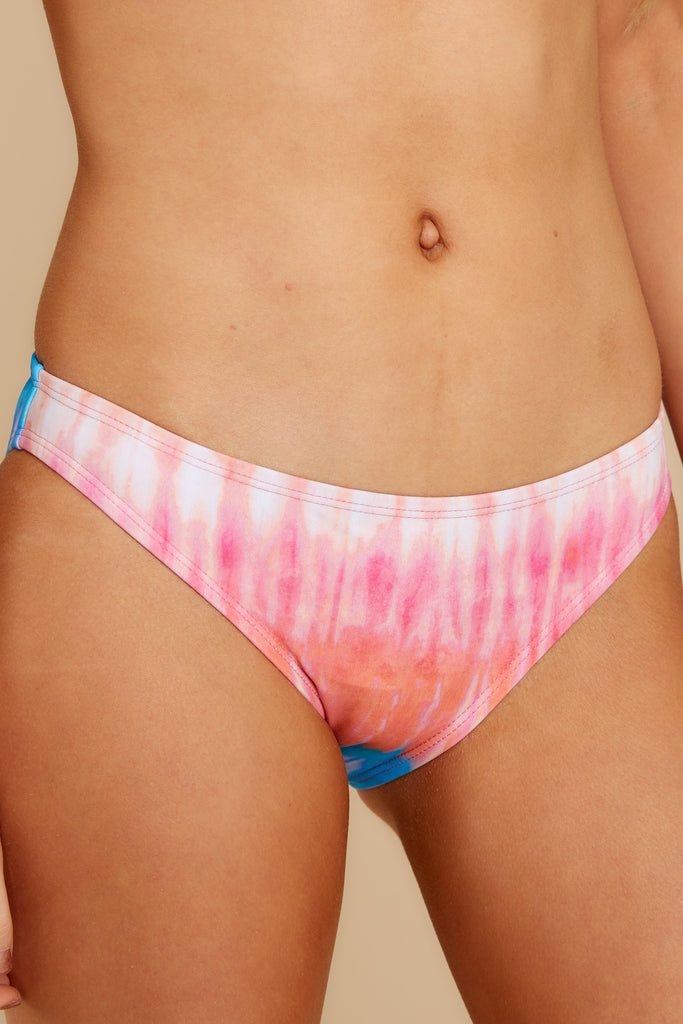 1 Bahama Breeze White Print Bikini Bottoms at reddress.com