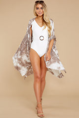 4 Wrapped In Luxe Brown Multi Tie Dye Kimono at reddress.com