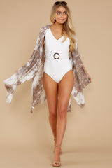 5 Wrapped In Luxe Brown Multi Tie Dye Kimono at reddress.com