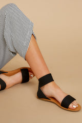 2 Can't Stay Away Black Ankle Strap Sandals at reddress.com