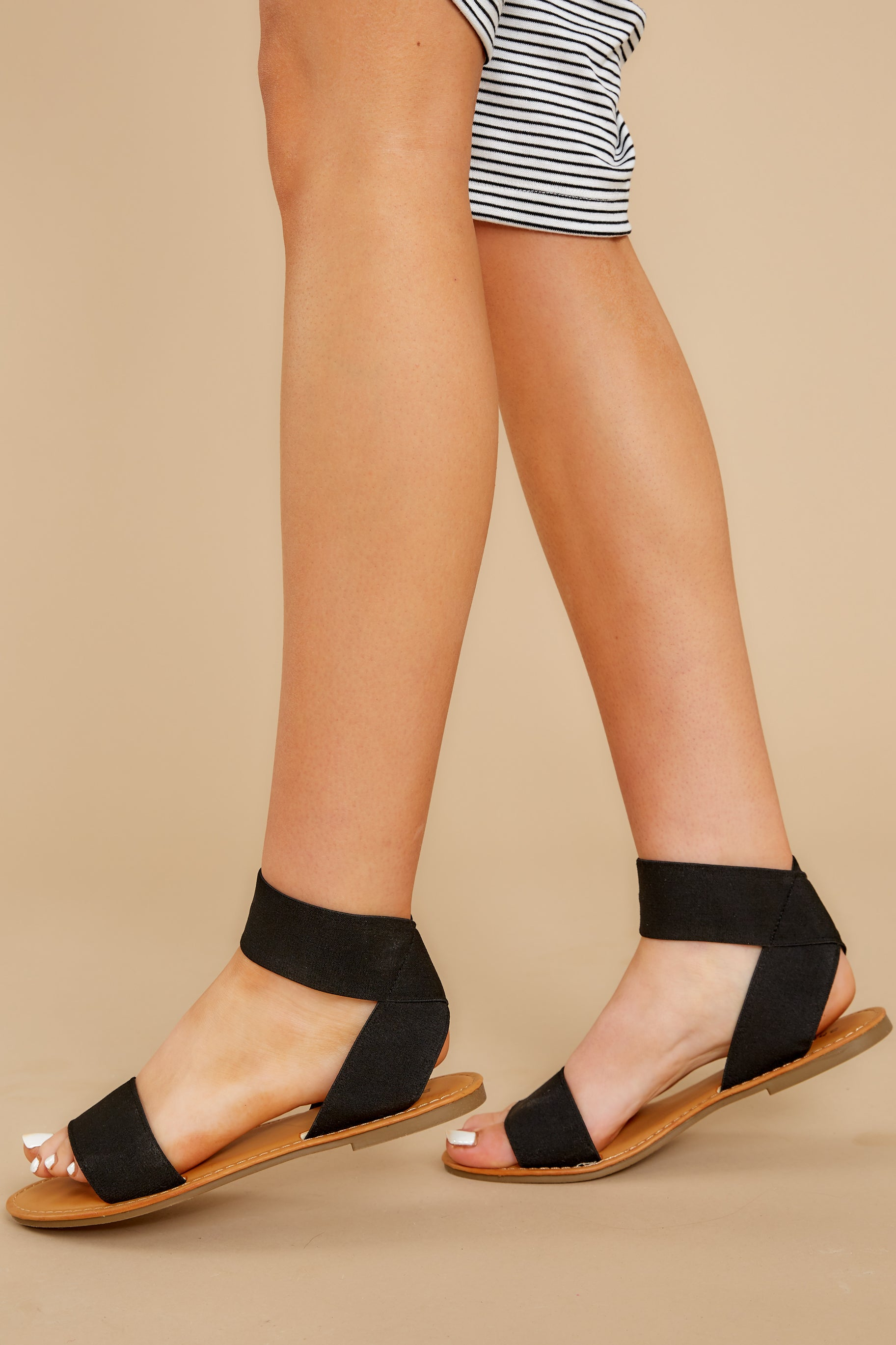 1 Can't Stay Away Black Ankle Strap Sandals at reddress.com