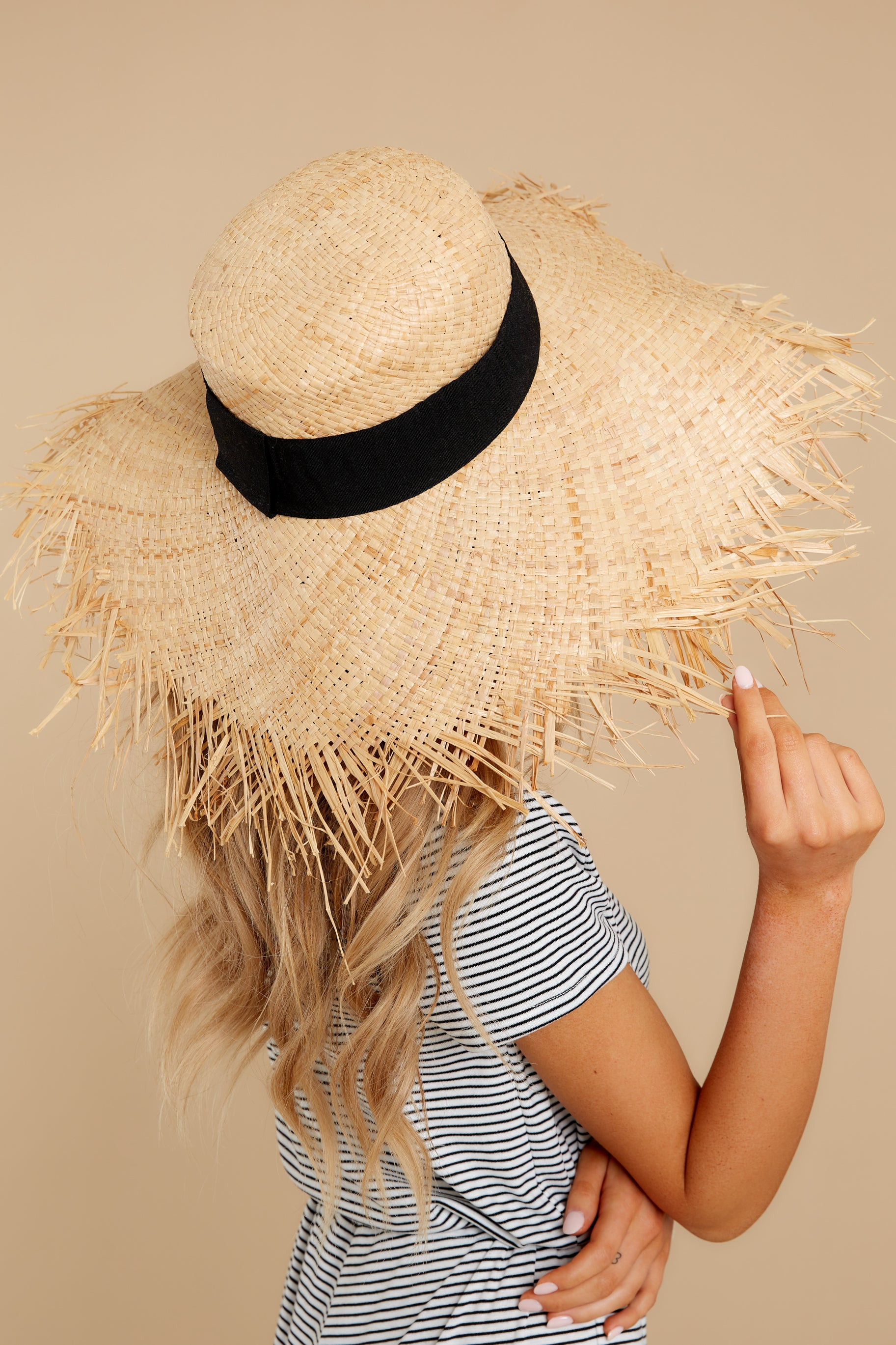 3 Bite Of Life Beige Wide Brim Hat at reddress.com