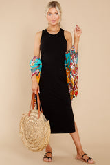 3 Creative Genius Black Midi Dress (BACKORDER JULY) at reddress.com