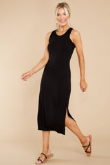 9 Creative Genius Black Midi Dress (BACKORDER JULY) at reddress.com