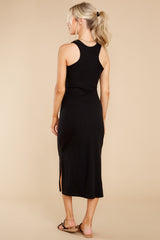 10 Creative Genius Black Midi Dress (BACKORDER JULY) at reddress.com