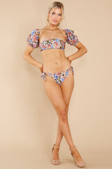 3 Thelma Multi Puff Sleeve Bikini Top at reddress.com