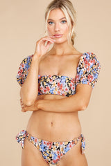 5 Thelma Multi Puff Sleeve Bikini Top at reddress.com