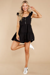 3 Watch Me Go By Black Romper at reddress.com
