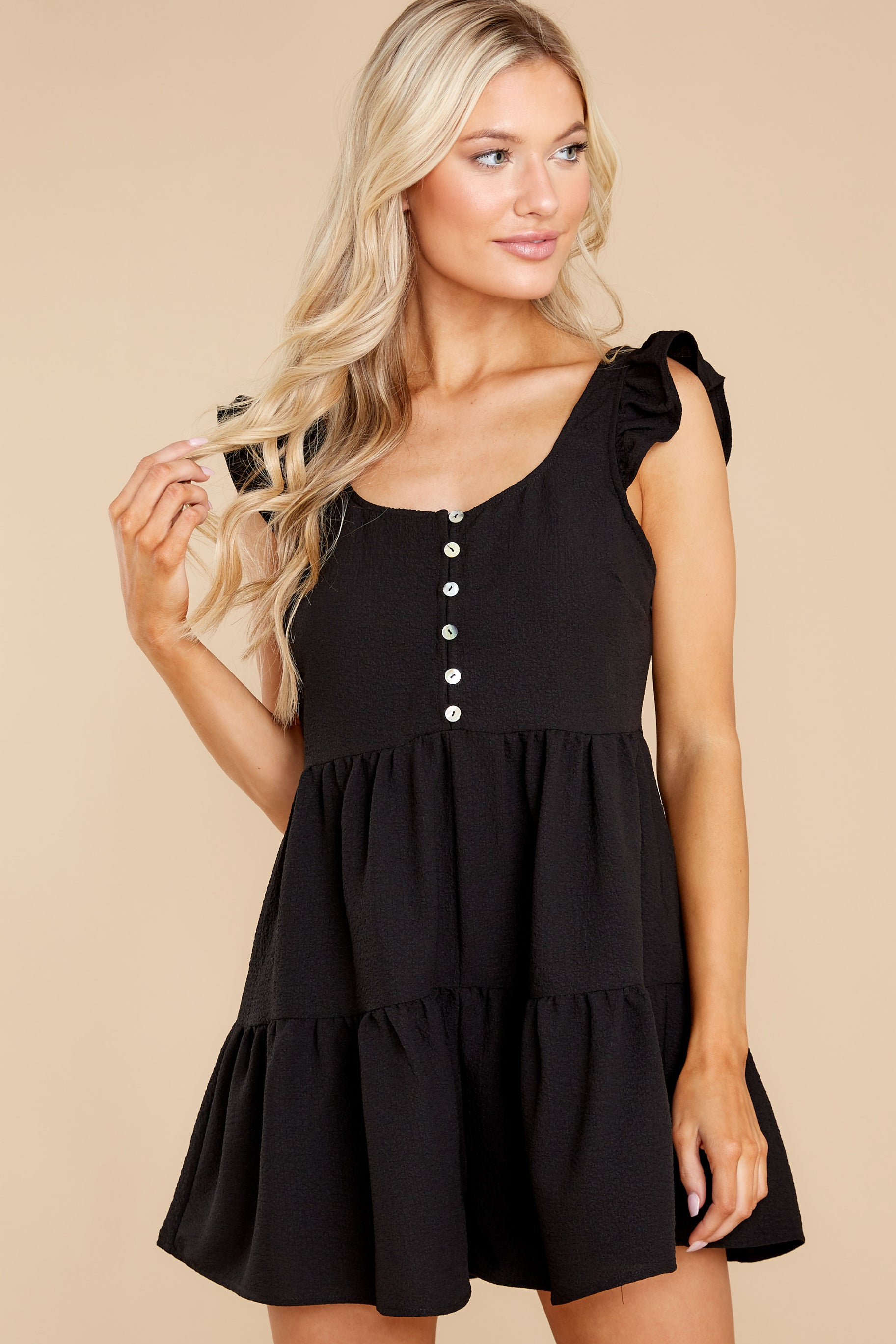 1 Watch Me Go By Black Romper at reddress.com