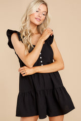 5 Watch Me Go By Black Romper at reddress.com