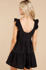 8 Watch Me Go By Black Romper at reddress.com