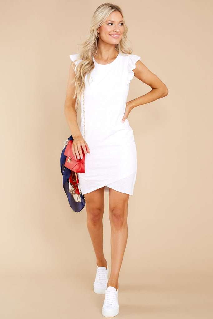 1 Warm Weather Feelings White Dress at reddress.com