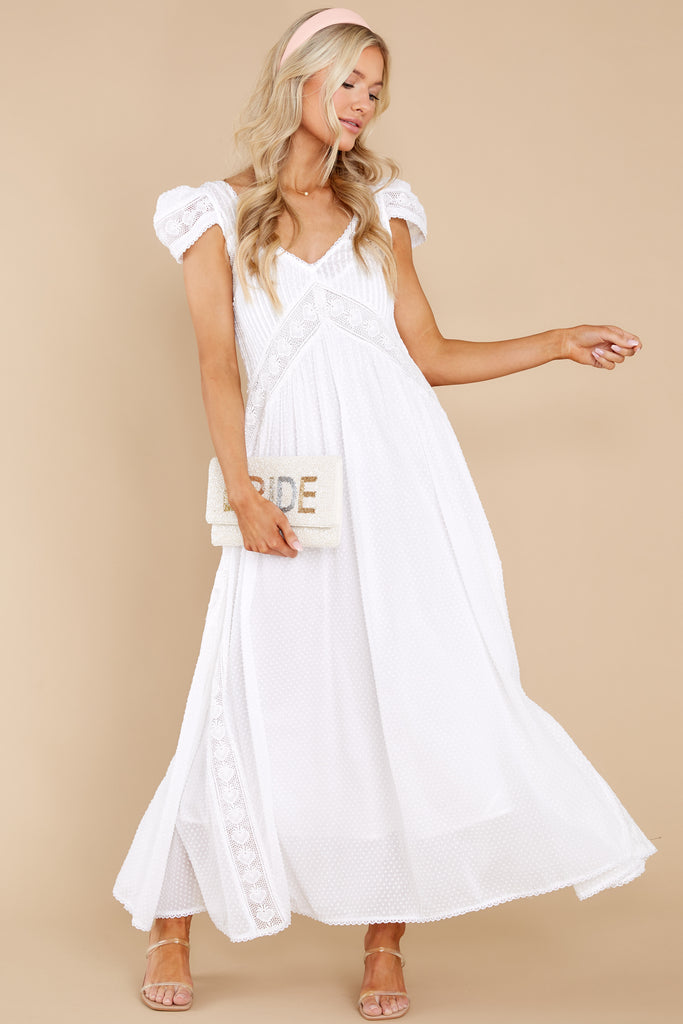 1 Blissfully Nostalgic White Maxi Dress at reddress.com