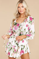 Sheer Sleeves Shirred Keyhole Tiered Popover Dress