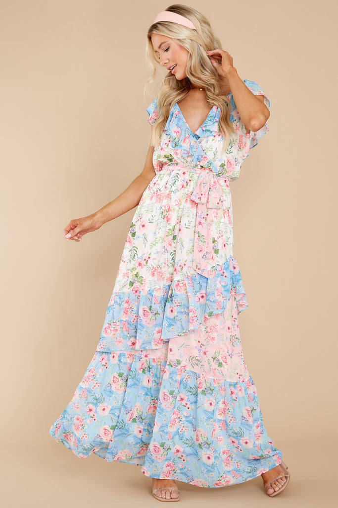 1 Just As Fancy Pink Floral Print Maxi Dress (BACKORDER MAY) at reddress.com