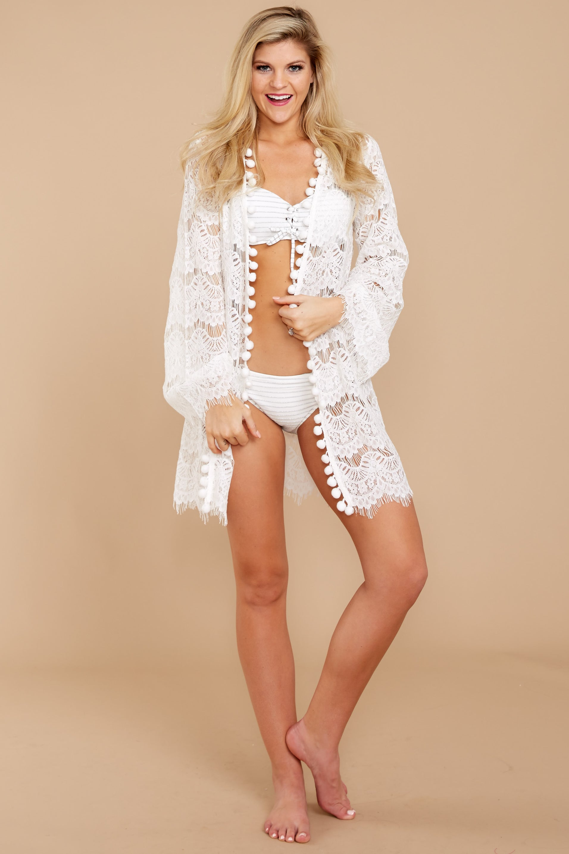 2 Got You Covered White Lace Cover Up at reddressboutique.com