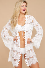 4 Got You Covered White Lace Cover Up at reddressboutique.com