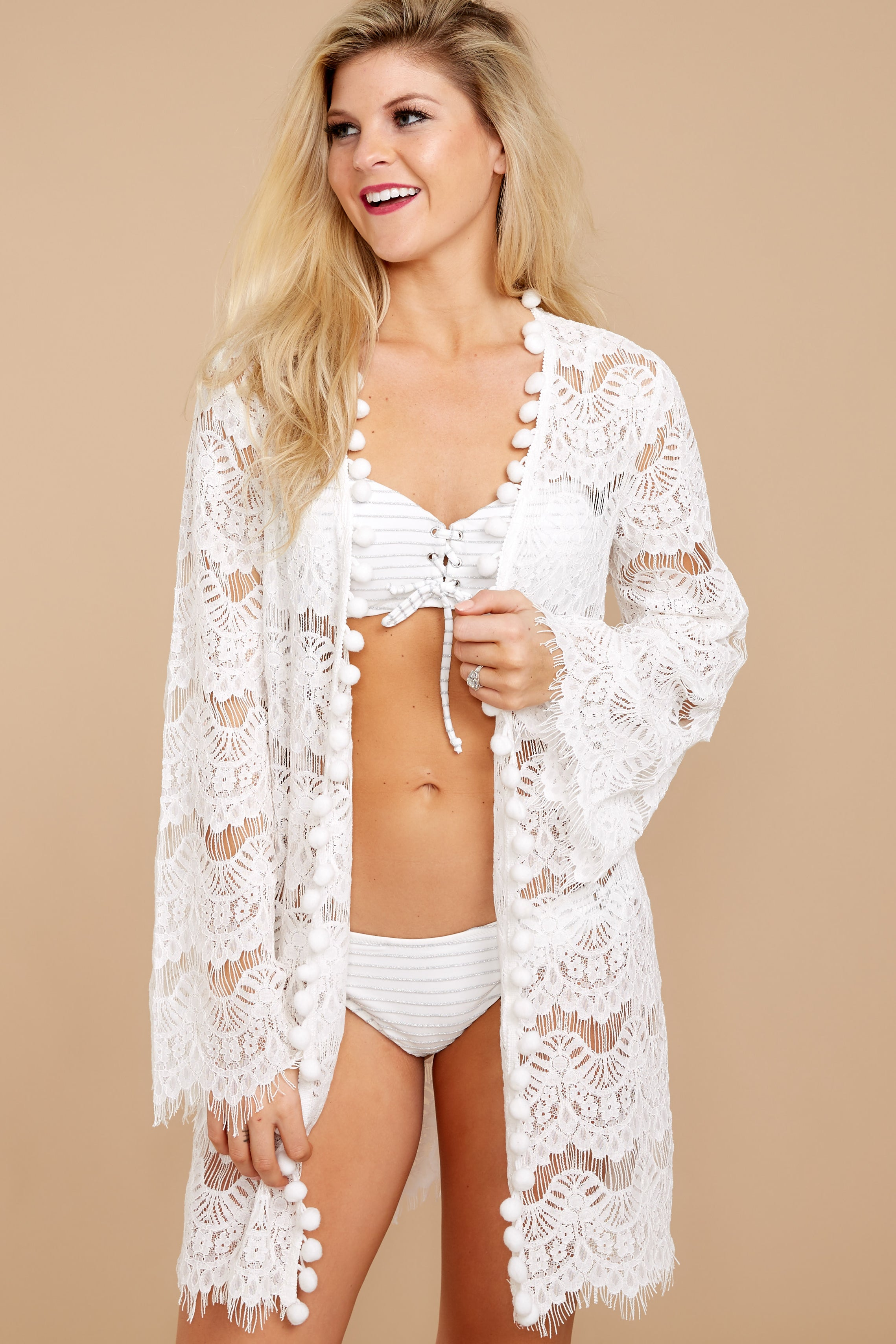5 Got You Covered White Lace Cover Up at reddressboutique.com