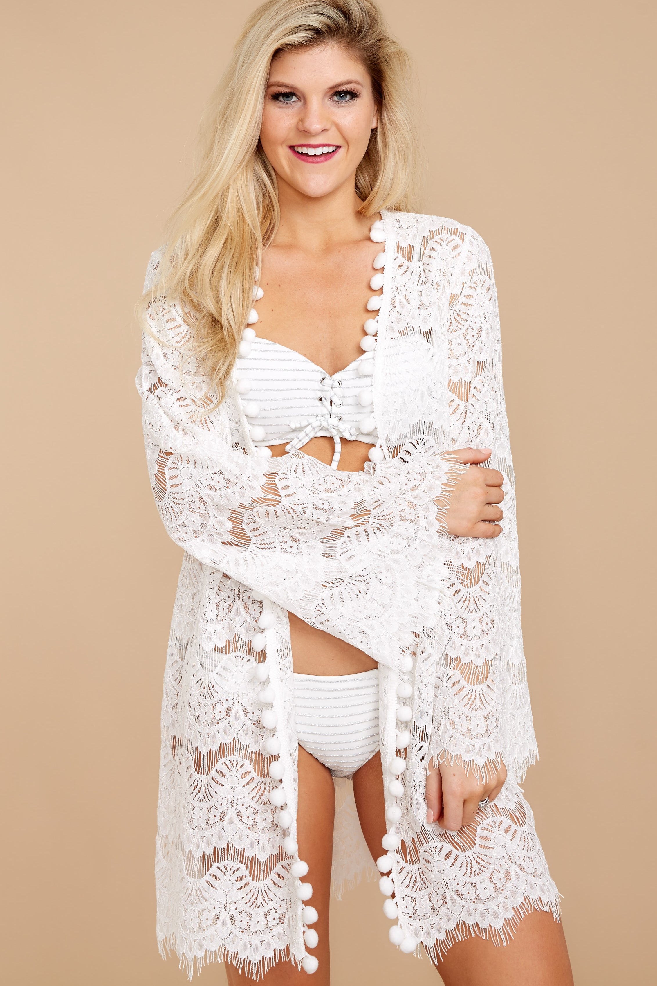 6 Got You Covered White Lace Cover Up at reddressboutique.com