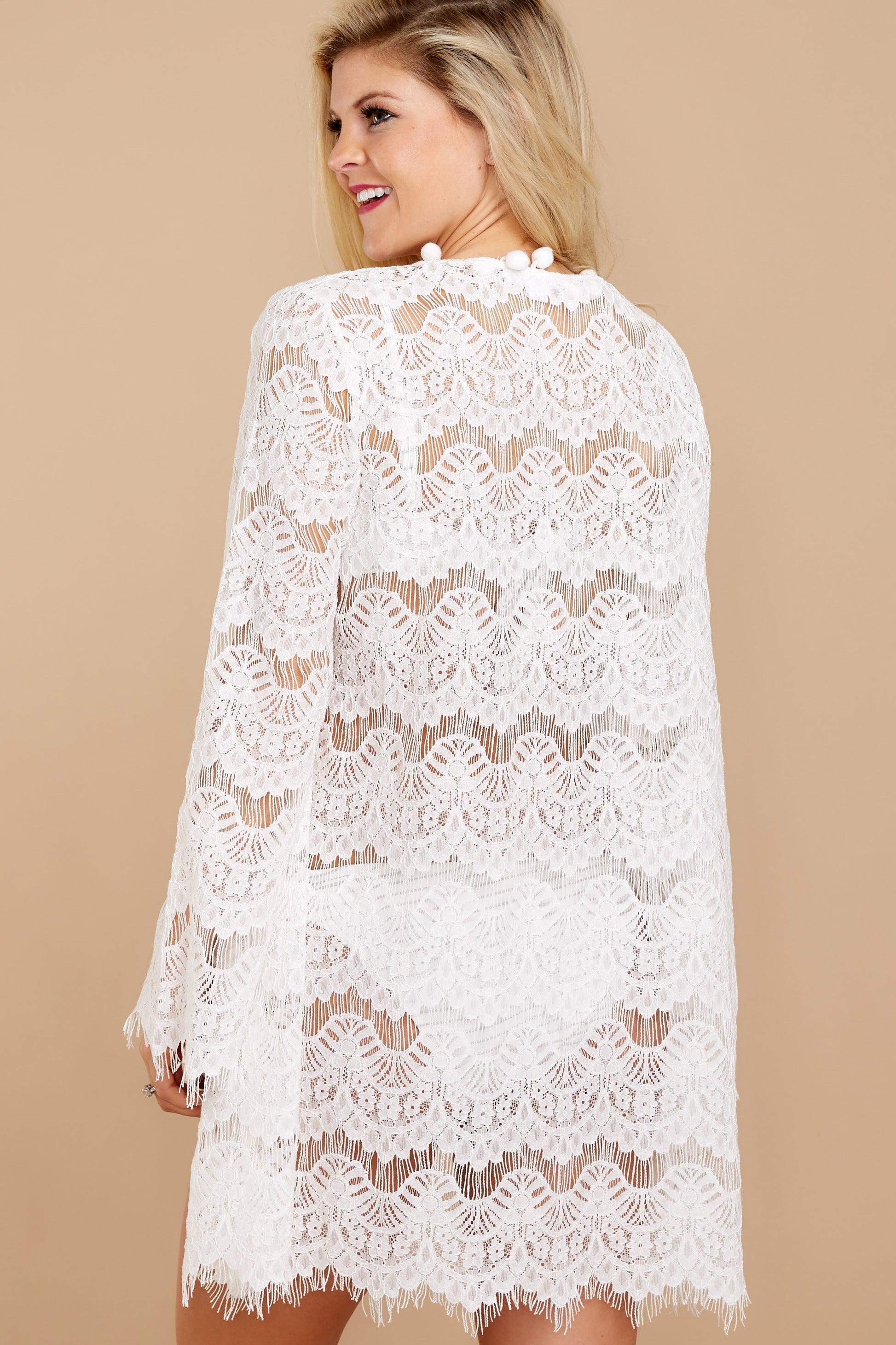 7 Got You Covered White Lace Cover Up at reddressboutique.com