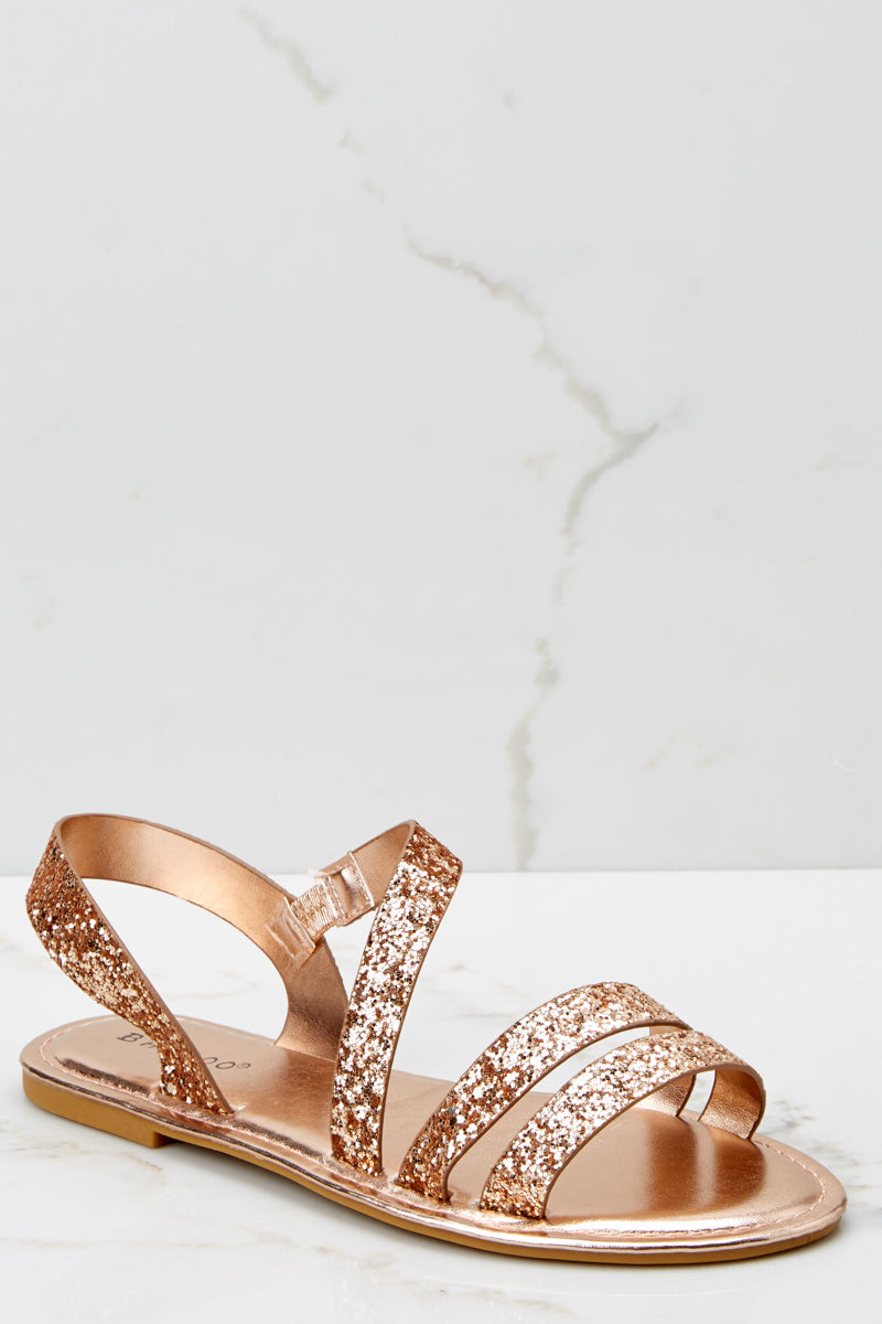 On The Move Pink Glitter Sandals