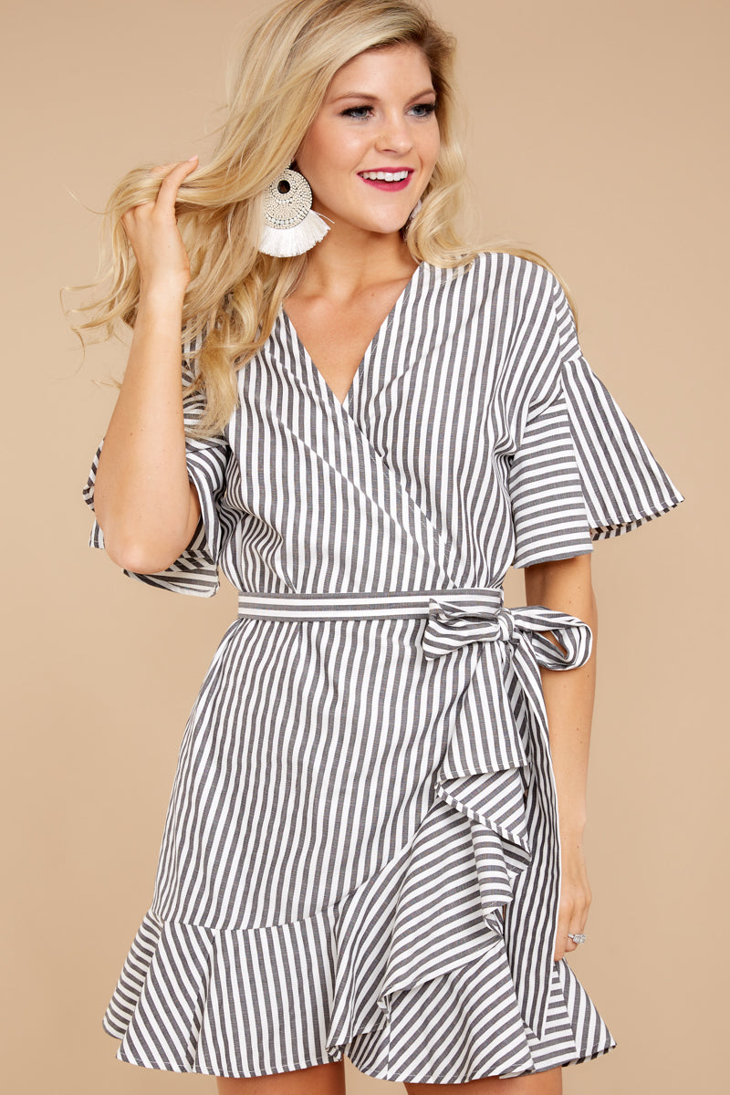 1 Believe In Me Black Striped Dress at reddressboutique.com