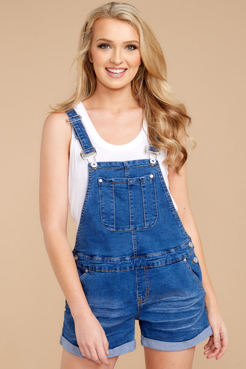 8 No One Can Deny Short Denim Overalls at reddressboutique.com
