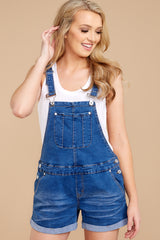 9 No One Can Deny Short Denim Overalls at reddressboutique.com