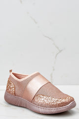 Girl On The Go Rose Gold Sneakers