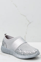 Girl On The Go Silver Sneakers