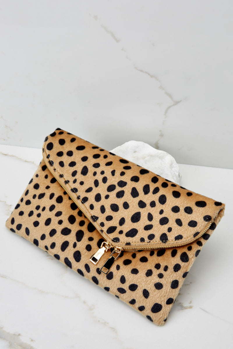 4 No New Tricks Cheetah Clutch at reddress.com