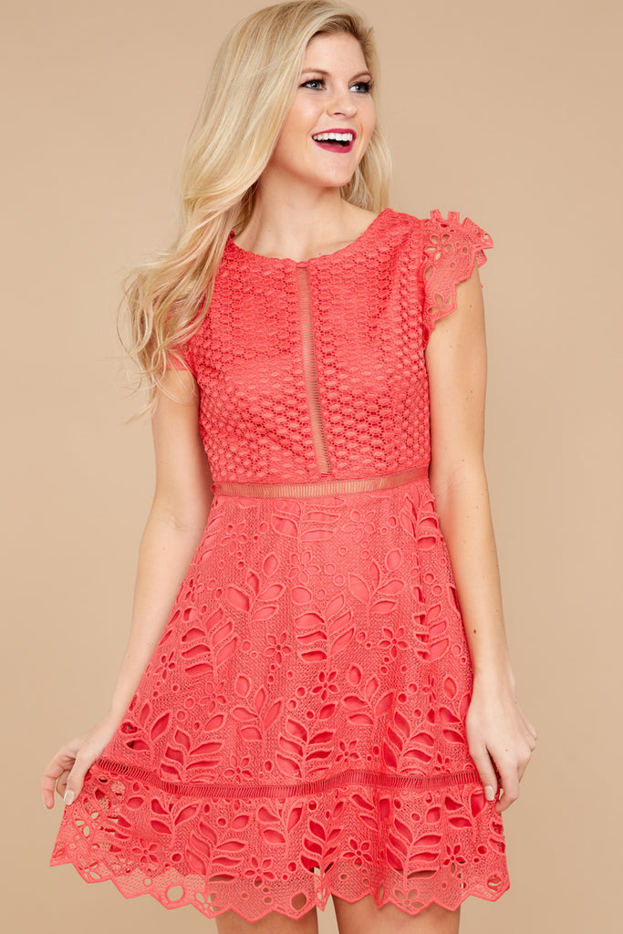Lace Dress Red