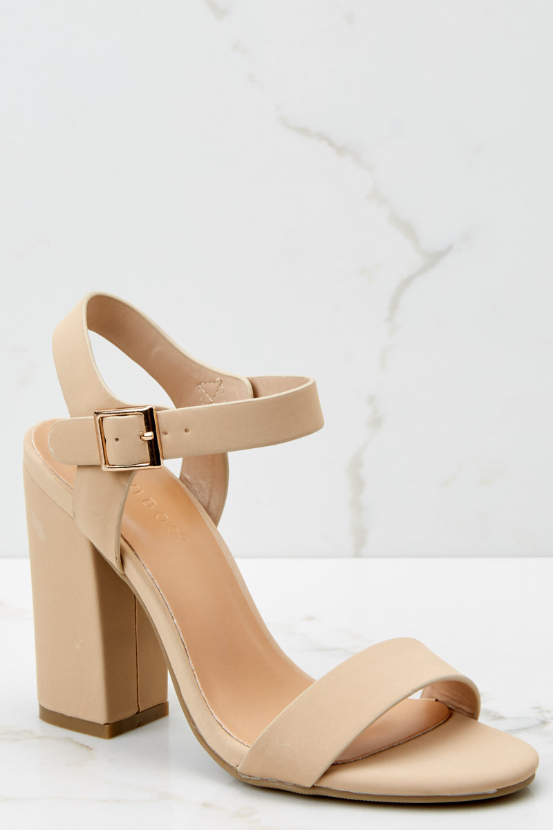 Nude heels with ankle strap photo 44