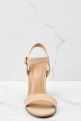 2 Legendary Moves Nude Ankle Strap Heels at reddressboutique.com
