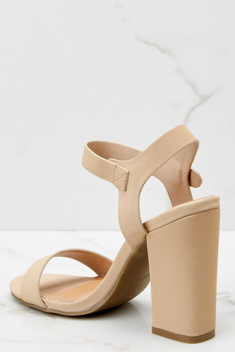 3 Legendary Moves Nude Ankle Strap Heels at reddressboutique.com