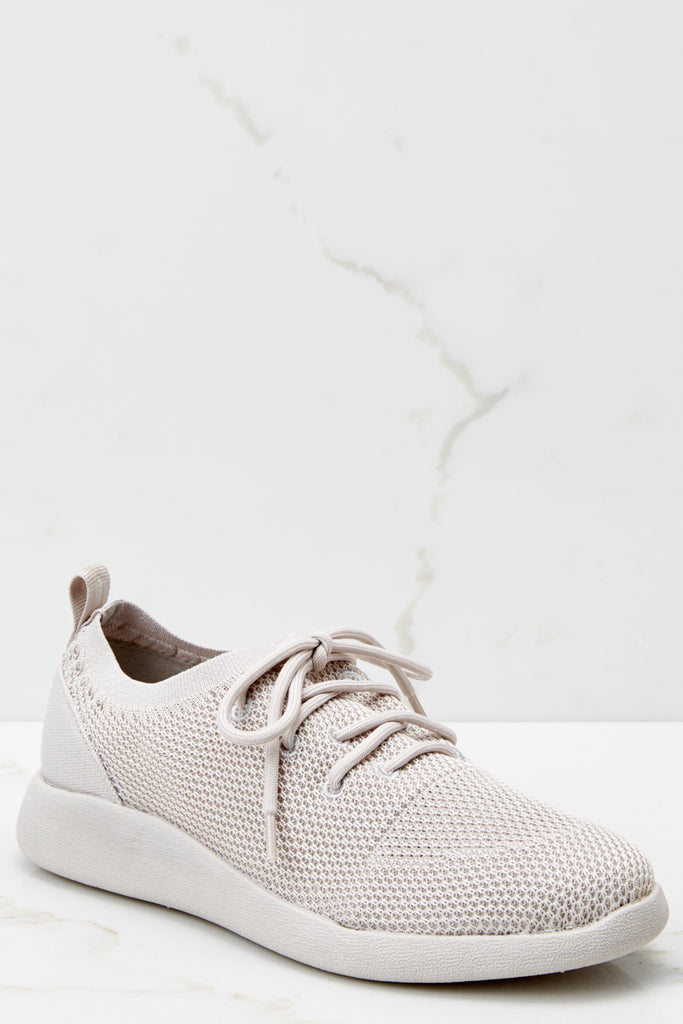 1 Easy Go Cream Slip On Sneakers at reddressboutique.com