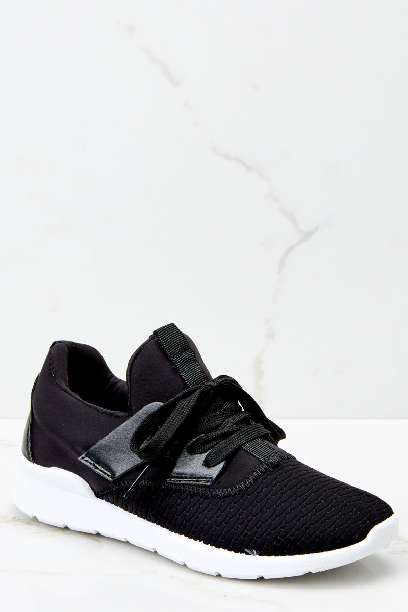 1 See You At The Finish Line Black Sneakers at reddressboutique.com