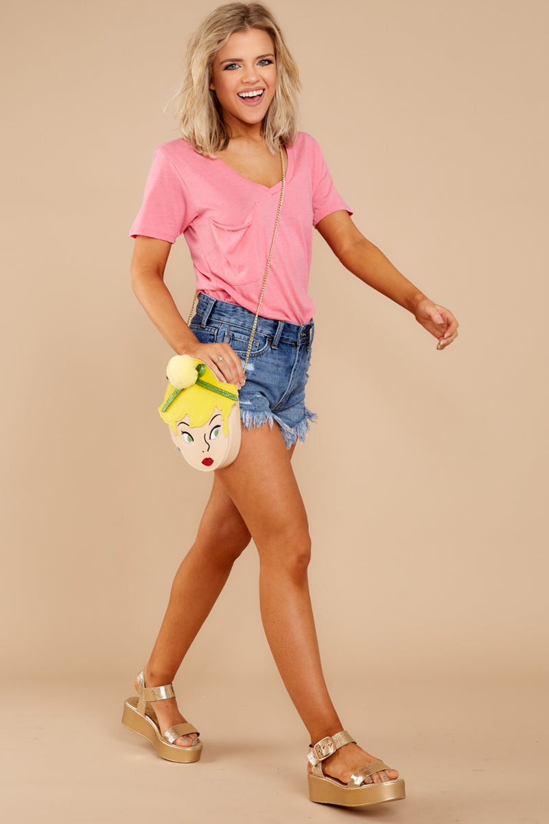 4 Pocket Tee In Pink Lemonade at reddressboutique.com