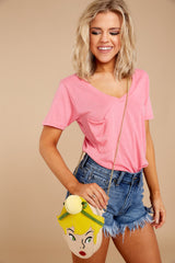 3 Pocket Tee In Pink Lemonade at reddressboutique.com