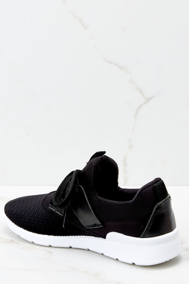 3 See You At The Finish Line Black Sneakers at reddressboutique.com