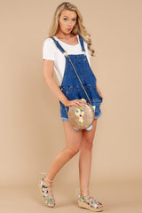 No One Can Deny Short Denim Overalls at reddressboutique.com